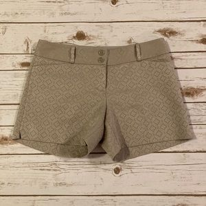 The Limited Taupe Embossed Textured Shorts Size 8